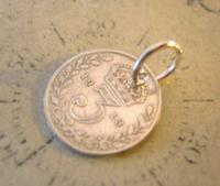 Antique Pocket Watch Chain Fob 1913 Lucky Silver Threepence Old 3d Coin Fob (3 of 6)