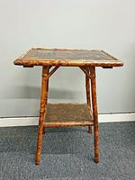 Bamboo Oriental Side Table