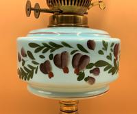 Quality 19thc Victorian Twin-Burning Duplex Porcelain & Ceramic Table Oil Lamp (8 of 12)