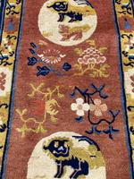 Antique Chinese Ningxia Rug (4 of 9)