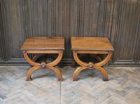 Pair of Oak Hall Benches (2 of 6)
