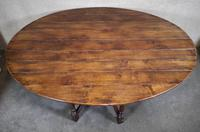 Large Oak Drop Leaf Table, Gate Leg Table, Dining Table - Seats Eight Persons (7 of 9)