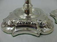 Pair of Antique Edwardian Silver Candlesticks Sheffield 1903 (3 of 8)