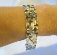 "Vintage Sterling Silver Gate Bracelet 1975 Chunky Heart Padlock 7 1/2"" Length 35 Grams (10 of 10)"