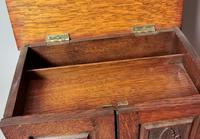 Antique Victorian Oak Smokers Cabinet, Arts & Crafts (10 of 14)