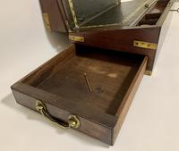 Antique Mahogany Brass Bound Campaign Writing Slope Box (6 of 17)