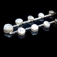 "Antique Moonstone Sterling Silver 16"" Riviere Fringe Necklace (5 of 7)"