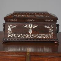 George IV Rosewood & Mother of Pearl Tea Caddy (4 of 11)