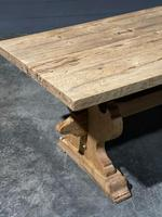 Large Rustic Bleached Oak Farmhouse Refectory Dining Table (22 of 25)