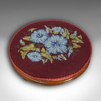 Pair of Antique Footstools, English, Walnut, Needlepoint, Rest, Victorian c.1860 (10 of 12)