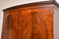 Antique George III Bow Fronted Linen Press (11 of 11)