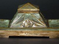 Parisian bronze caster  Inkwell. (2 of 8)