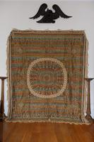 Large Vintage Middle Eastern Embroidered Silk Wall Hanging (2 of 10)