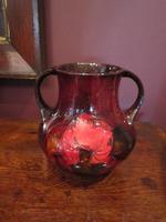 Rare Moorcroft Flambe Claremont Twin Handled Vase