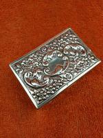 Antique Sterling Silver Heavy Hallmarked  Matchbox Case , 1890 Samuel Walton Smith (6 of 12)