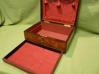 Beautifully Inlaid Rosewood Jewellery Box. Unusual Interior c.1865 (3 of 14)
