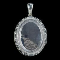 Antique Victorian Forget Me Not Locket Sterling Silver Gold Dated 1883 (2 of 7)