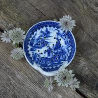 Caughley Porcelain Egg Drainer Fisherman / Pleasure Boat Pattern (7 of 7)