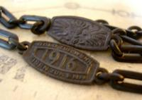 Antique German Iron Pocket Watch Chain 1916 WW1 Gold For Weapons Iron For Gold (8 of 12)