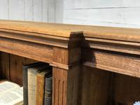 Oak Breakfront Open Bookcase (7 of 20)