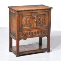 Neat-sized Jacobean-style Carved Oak Cabinet