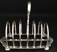 Victorian Silver Plated Arched Shape  Toast Rack (5 of 5)