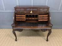 Maple and Co. Large Mahogany Cylinder Desk (4 of 25)