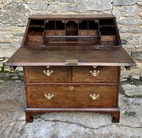 18th Century Georgian Oak Crossbanded Bureau (21 of 22)