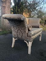 Antique English Small Upholstered Sofa (5 of 8)