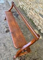 Antique Pitch Pine Gothic Style Church Pew Bench (11 of 13)