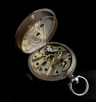 Antique Fine Silver Ladies Pocket Watch, Fob Watch (5 of 14)
