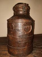 18th Century Iron Banded & Riveted Cream Can (3 of 13)