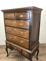 Antique 18th Century George II Oak Chest on Stand (M-652) (12 of 12)