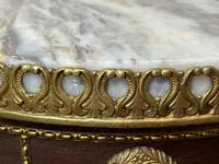 Decorative French Louis Revival Style Marble Top Side Table with Romantic Sèvres Plaques (19 of 38)