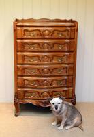 French Cherry Wood Tall Chest of Drawers (6 of 12)