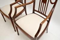 Pair of Antique Edwardian Inlaid  Mahogany Armchairs (8 of 12)