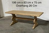 French Oak Trestle Farmhouse Dining Table (10 of 14)
