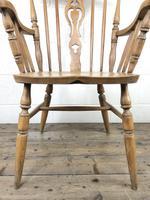 Early 20th Century Antique Beech Farmhouse Armchair (9 of 10)