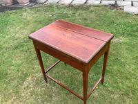 Edwardian Mahogany Ladies Writing Desk / Table (4 of 5)