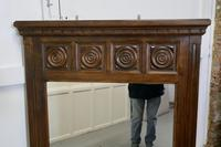 Large French Carved Oak Wall Mirror (4 of 5)
