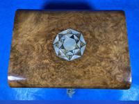 Victorian Walnut Jewellery Box with Inlay (14 of 15)