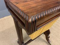 Regency Period Rosewood Work Table (12 of 15)