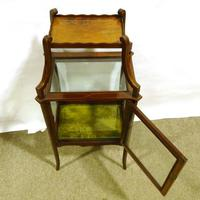 Edwardian Mahogany Centre Standing Display Cabinet with Shelf Above (2 of 2)