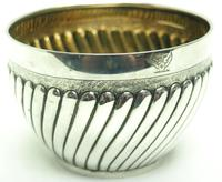 Antique Solid Silver Plant Pot or Bowl with Gilt Lining c.1882 (7 of 7)