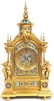 Incredible Antique French Champlevé Ormolu Bronze 8 Day Striking Mantel Clock c.1860 (7 of 13)