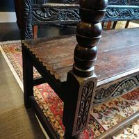 Stunning Heavily Carved Gothic Revival Oak Settle (7 of 14)