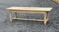 Large Bleached Oak Farmhouse Dining Table with Extensions & Storage (7 of 35)