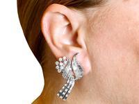 5.90ct Diamond & Platinum Tassel Earrings - Vintage c.1950 (9 of 9)