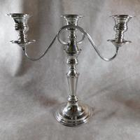 Silver Plate on Copper Candelabra