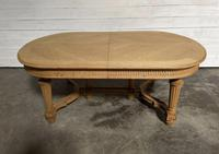 Huge Bleached Oak French Extending Dining Table (7 of 24)